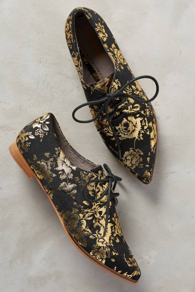 Gilded Rosebloom Oxfords by Farylrobin