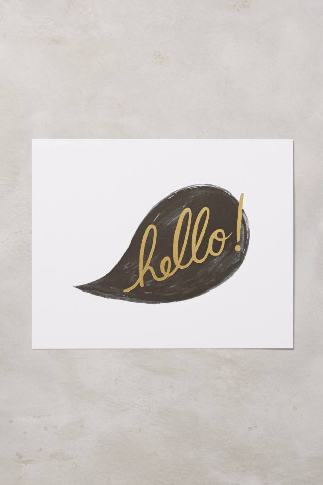 Hello! Print by Rifle Paper Co