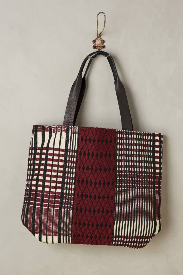 Lucia Plaid Tote by Mercado Global
