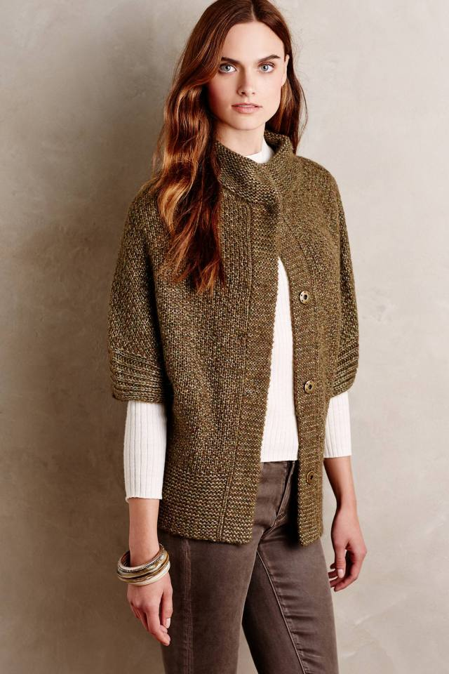 Mixed Stitch Cardigan by Angel of the North