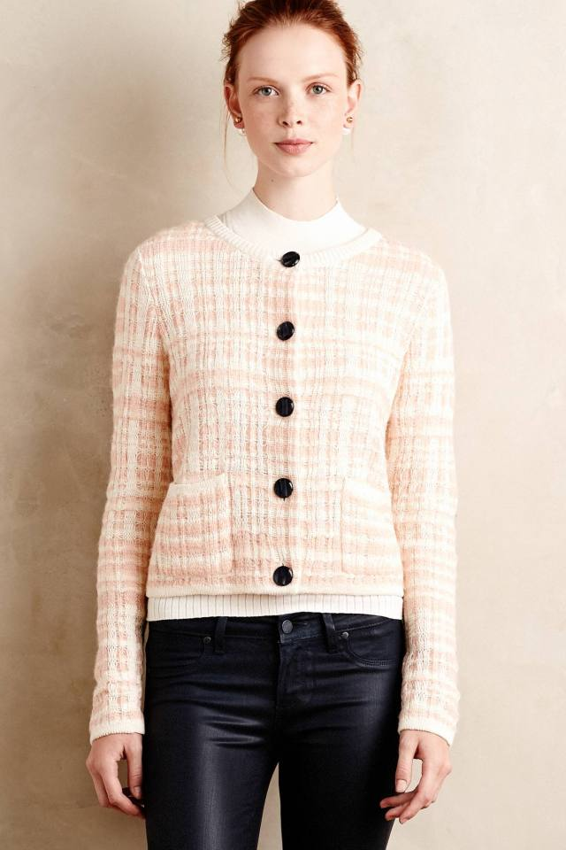 Plaid Boucle Cardi by Knitted & Knotted