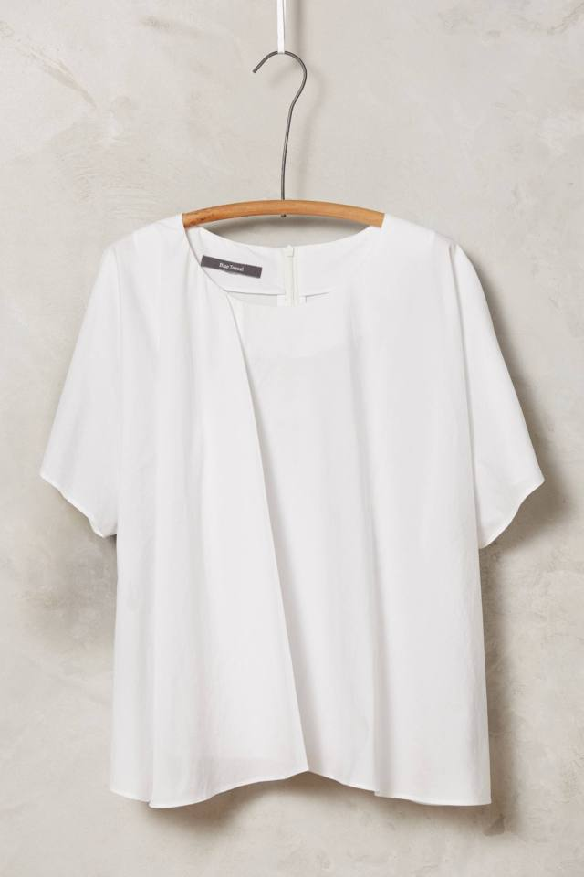 Pleated Poplin Blouse by HD in Paris