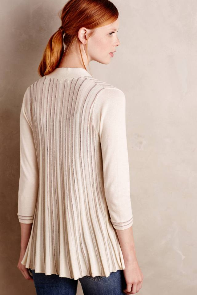 Pollyella Pleated Cardigan by Knitted & Knotted