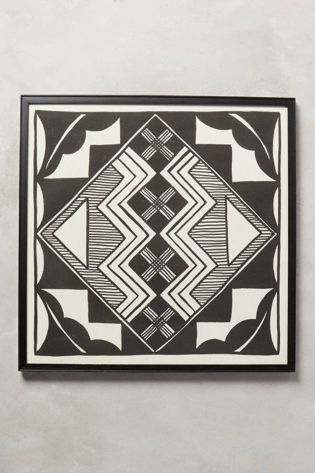Printed Tile Wall Art, Symmetrical