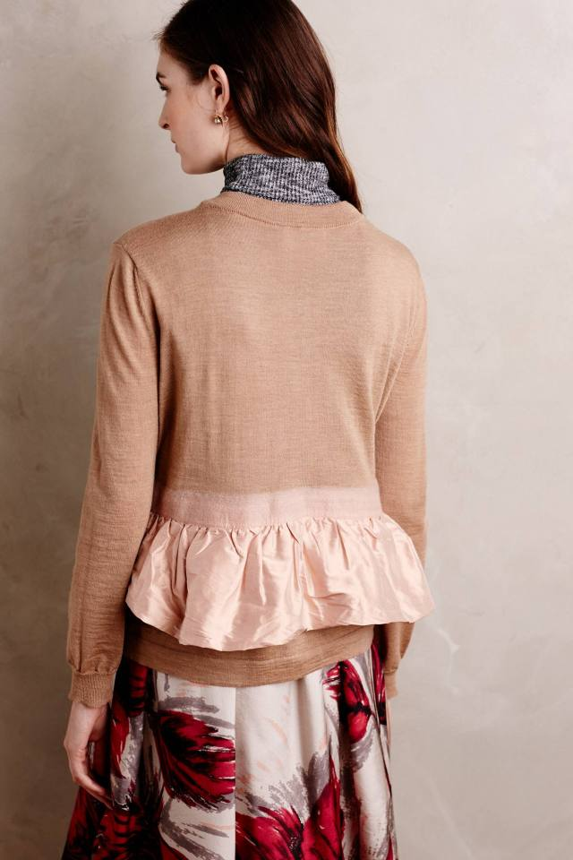 Ruffled Peplum Cardigan by Erika Cavallini Semicouture
