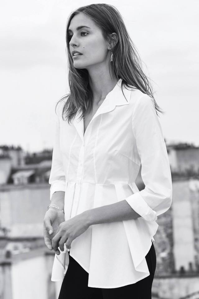 Skirted Poplin Buttondown by HD in Paris