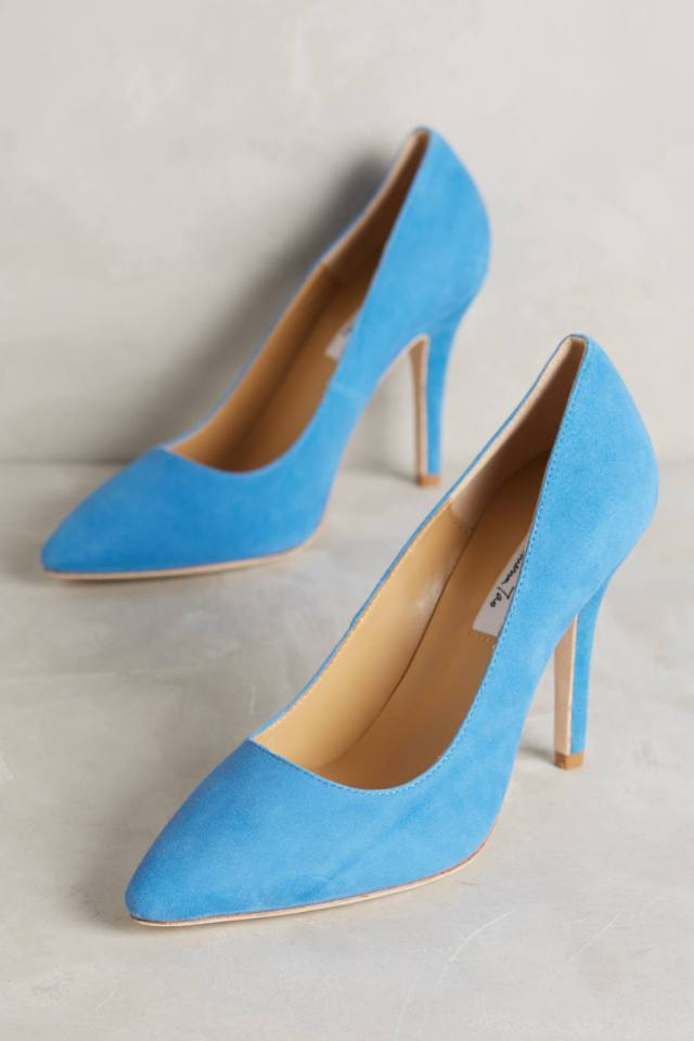 Pointed Suede Pumps by Vanessa Tao