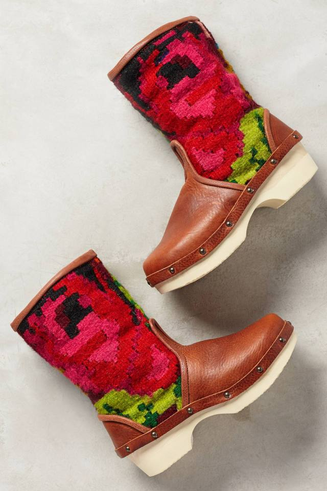 Vintage Carpet Booties by Rosa Mosa