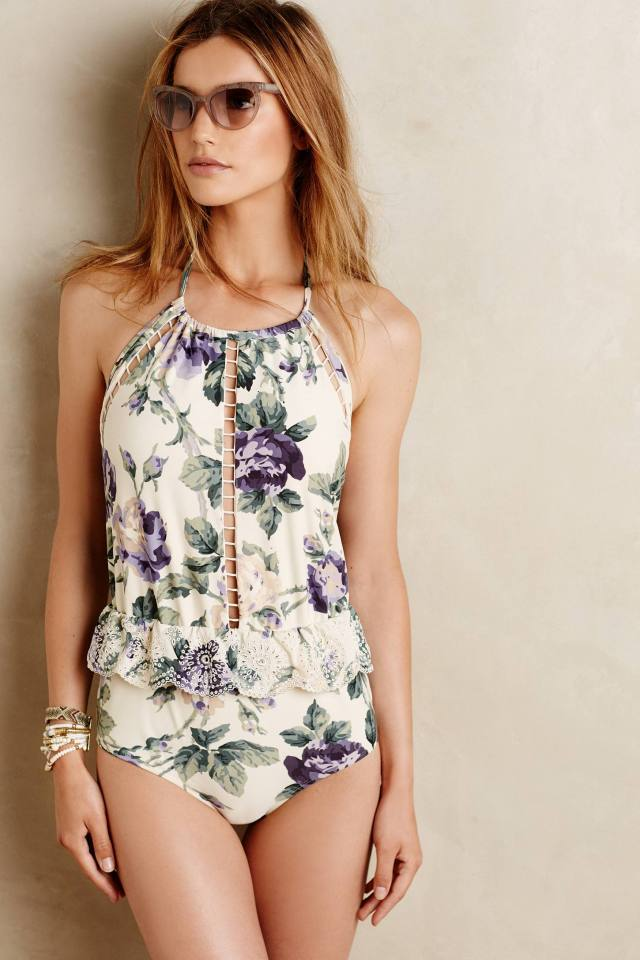 Embroidered Lucia Maillot by Zimmermann