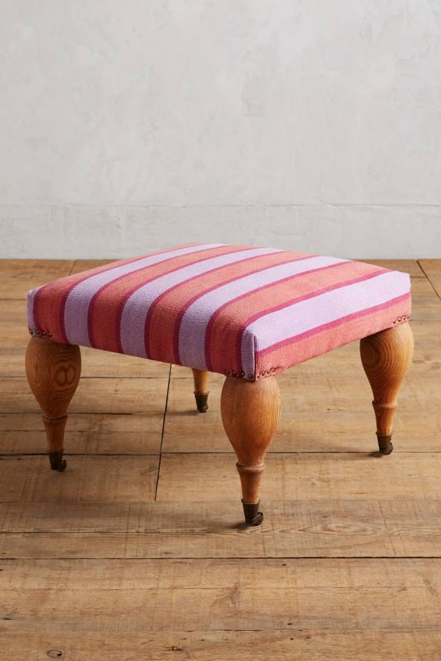 Cotton Dhurrie Trinette Ottoman