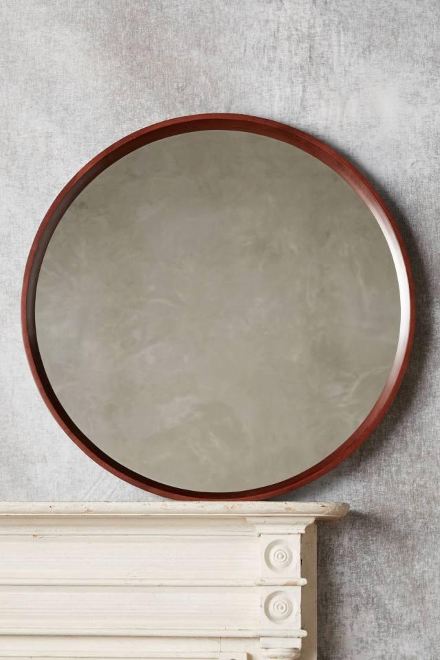 Polished Wood Mirror
