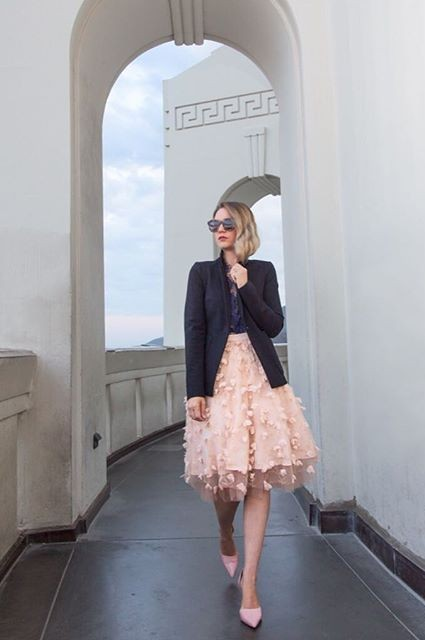 Fluttered Fete Midi Skirt by Eva Franco