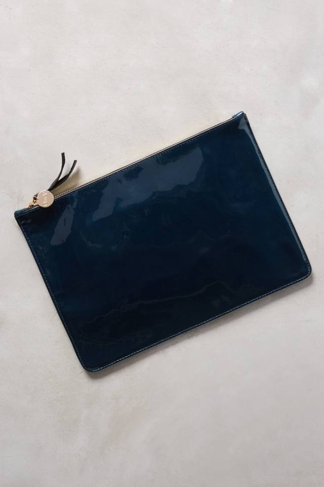 Patent Leather Pouch by Clare V