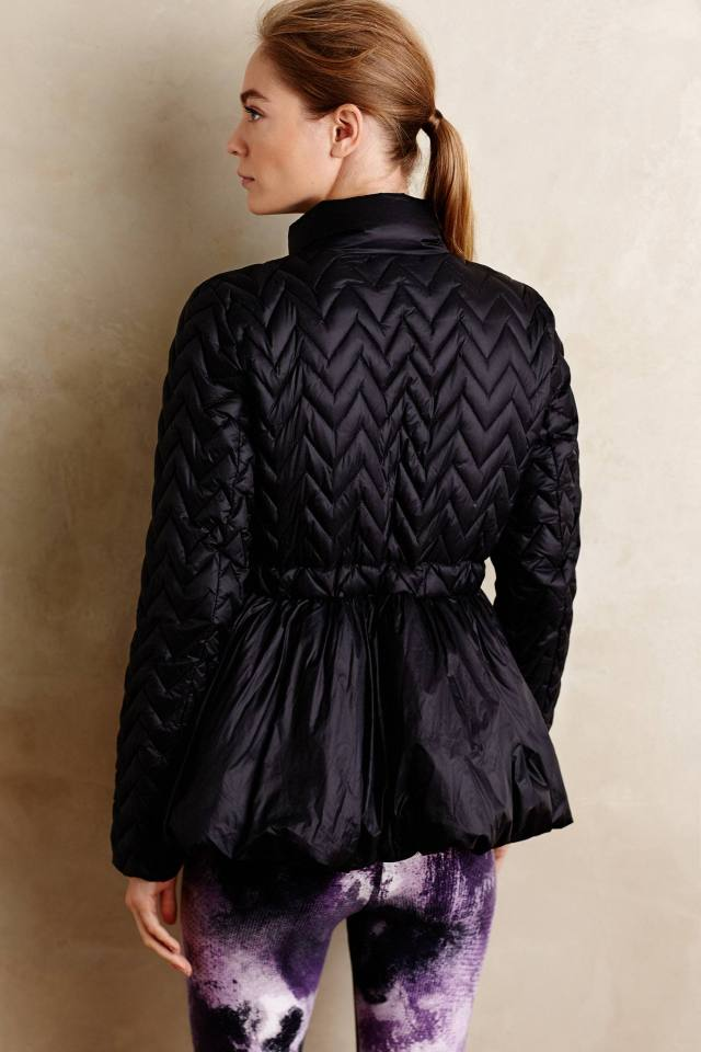 Peplum Puffer Jacket by Vimmia