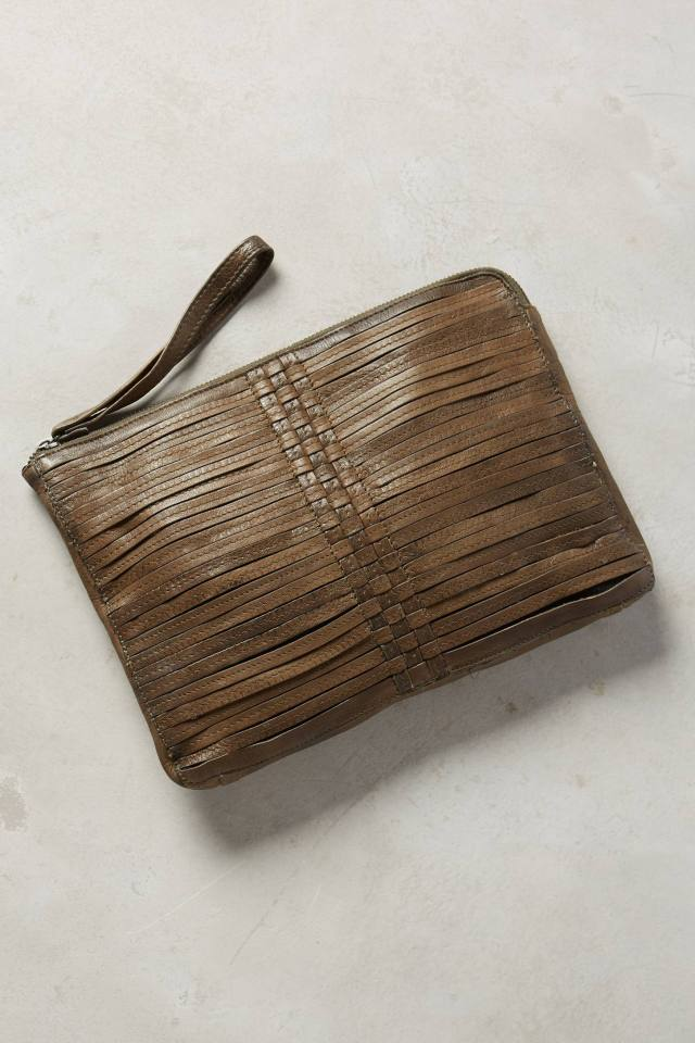 Woven Leather Pouch by Day & Mood