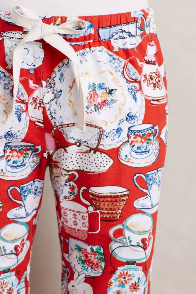 Tea Time Flannel Sleep Pants by Lilka