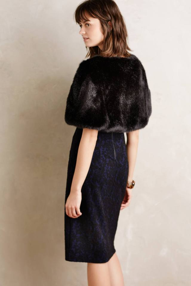 Akilina Faux-Fur Shrug
