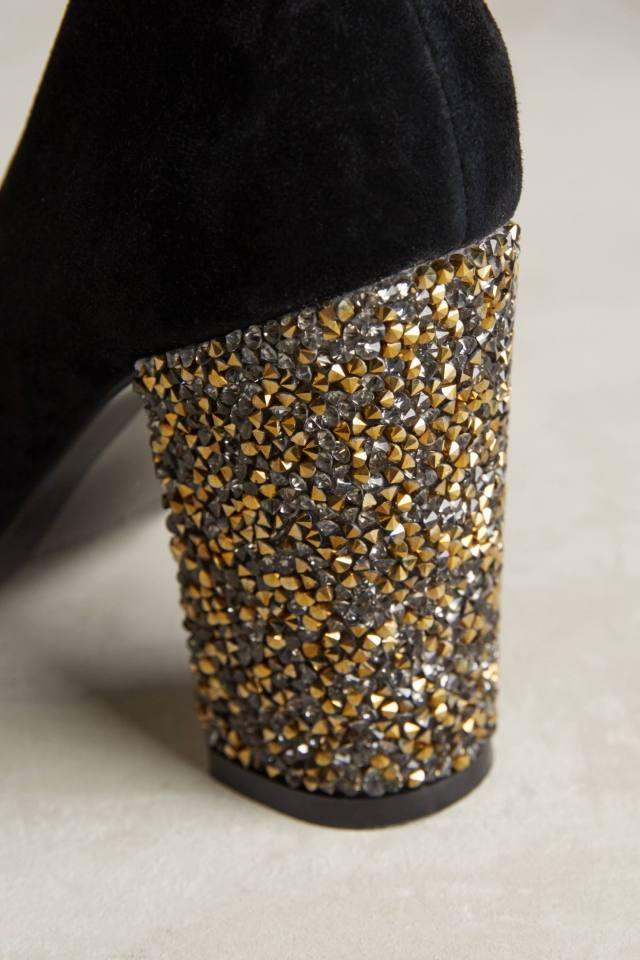 Glitter Heel Pumps by Tracy Reese