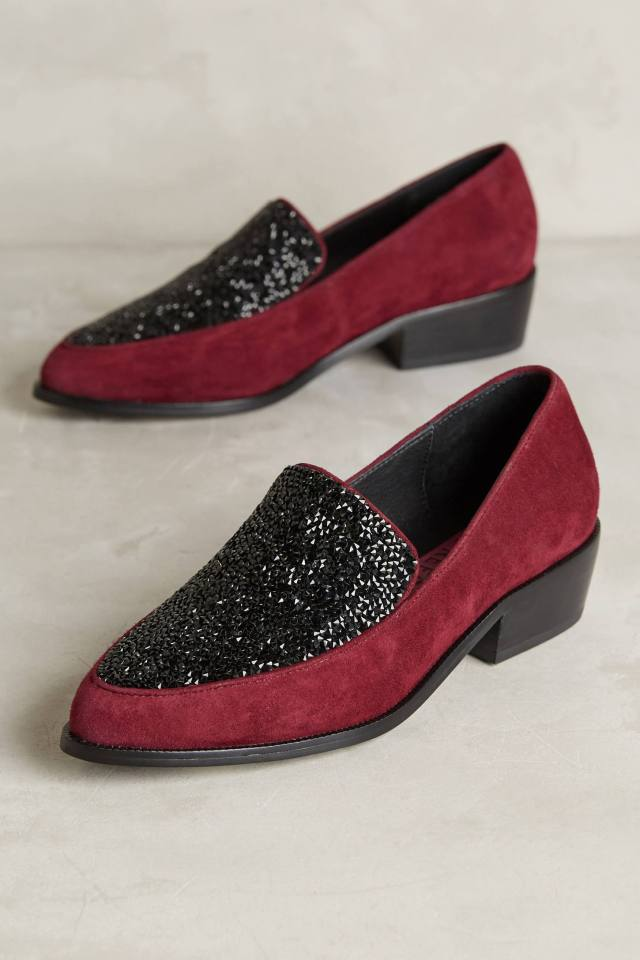 Glitter Loafers by Tracy Reese