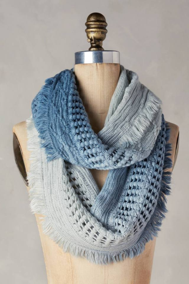 Fringed Ombre Infinity Scarf