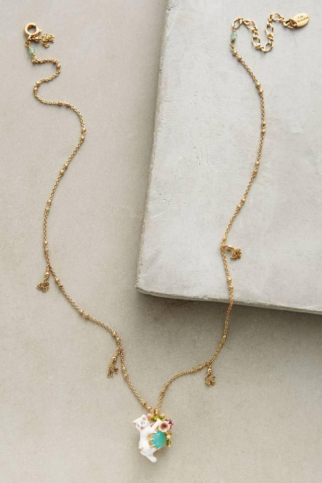 Le Chat Blanc Necklace by Les Nereides