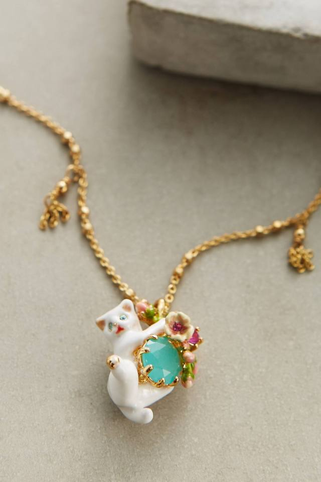 Le Chat Blanc Necklace by Les Nereides
