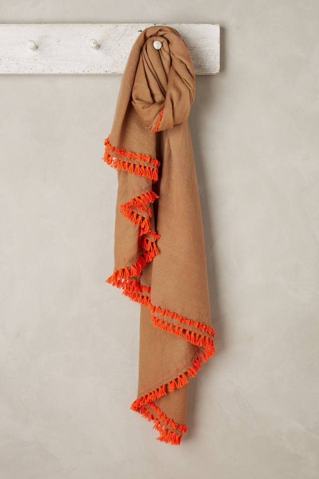 Brightened Border Scarf by Rose & Rose