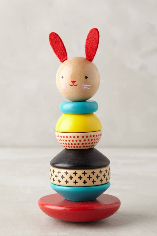 Stacking Wooden Rabbit by Petit Collage