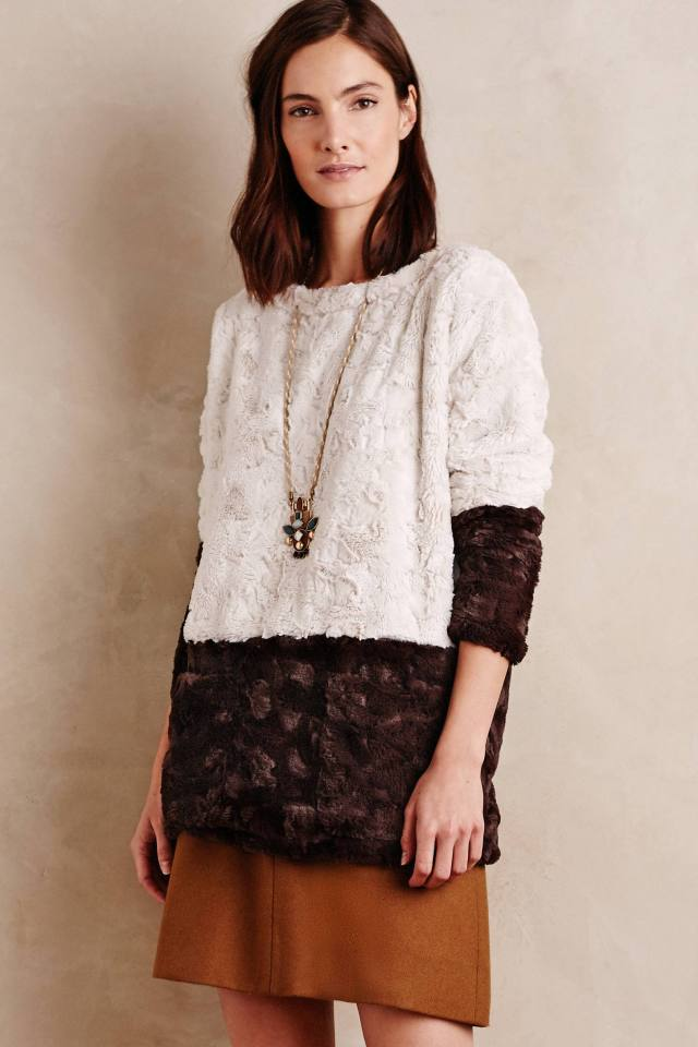 Faux-Fur Pullover by Burning Torch