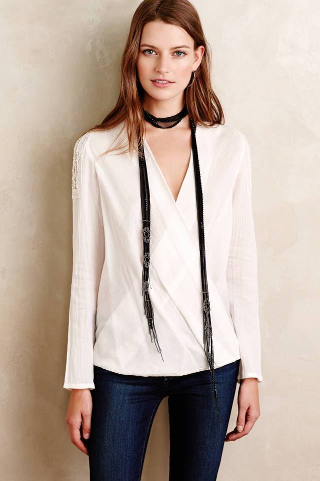 Embroidered Savarin Top by Hoss Intropia
