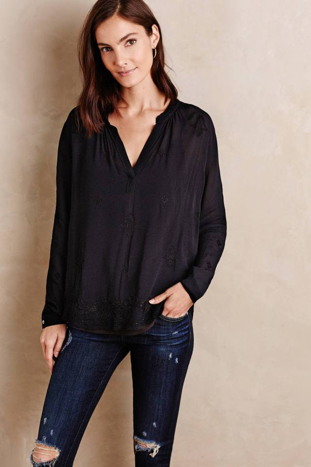 Feodora Peasant Top by Velvet by Graham and Spencer