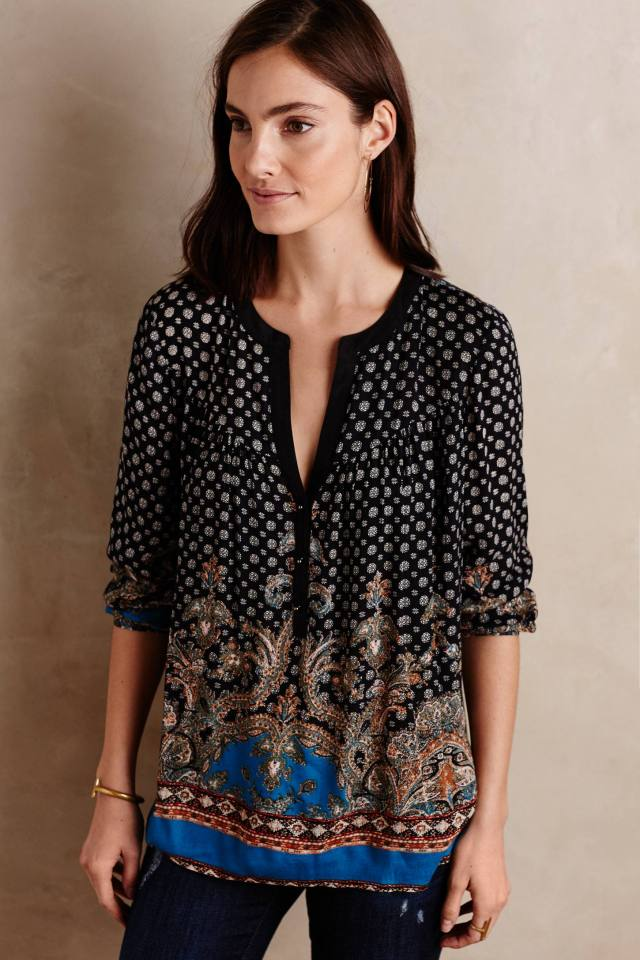 Stanza Peasant Blouse by Meadow Rue