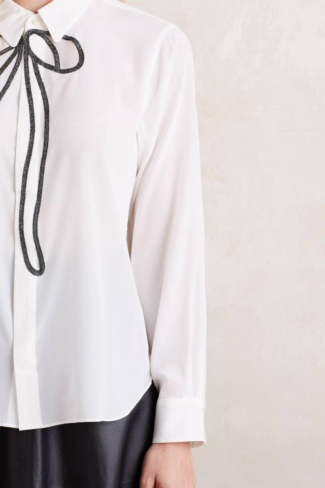 Bow-Tied Silk Buttondown by Tsumori Chisato
