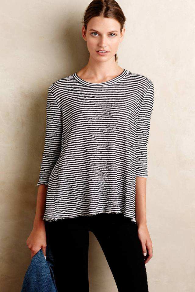 Banded Buttonback Tee by Stateside