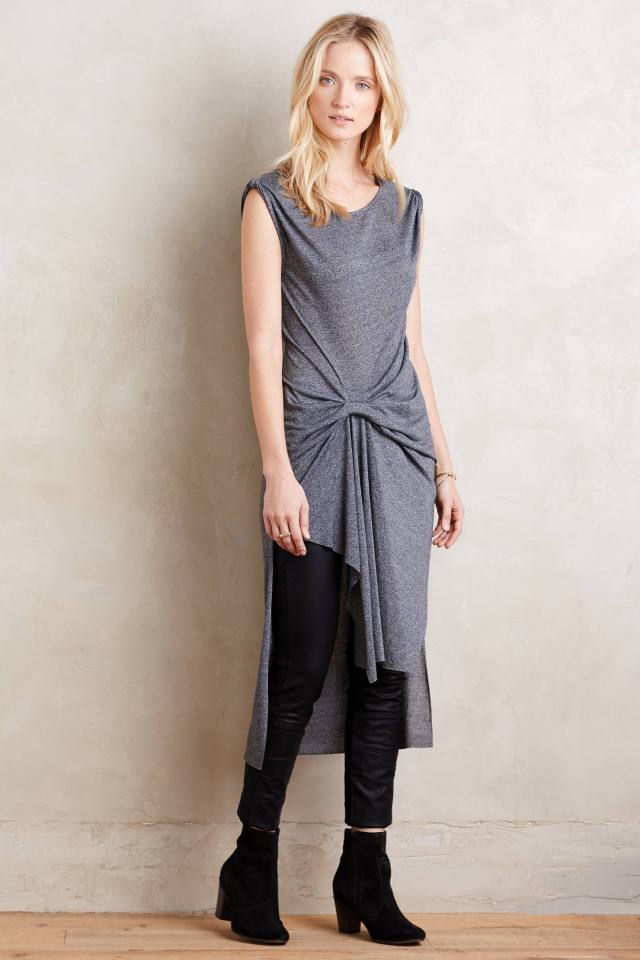 Gathered Knit Tunic by Ro & De