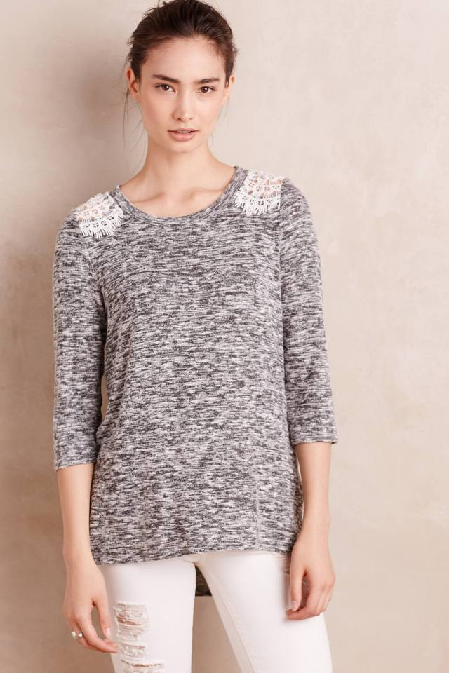 Lace-Side Tee by Ro & De