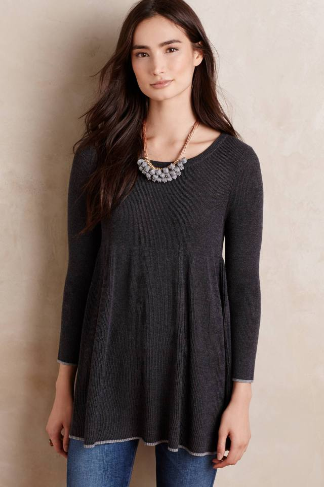 Ribbed Empire Tunic by Knitted & Knotted