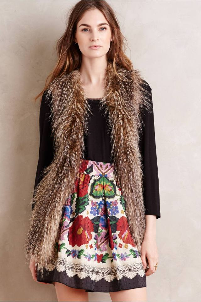 Trading Post Faux-Fur Vest by Ella Moss