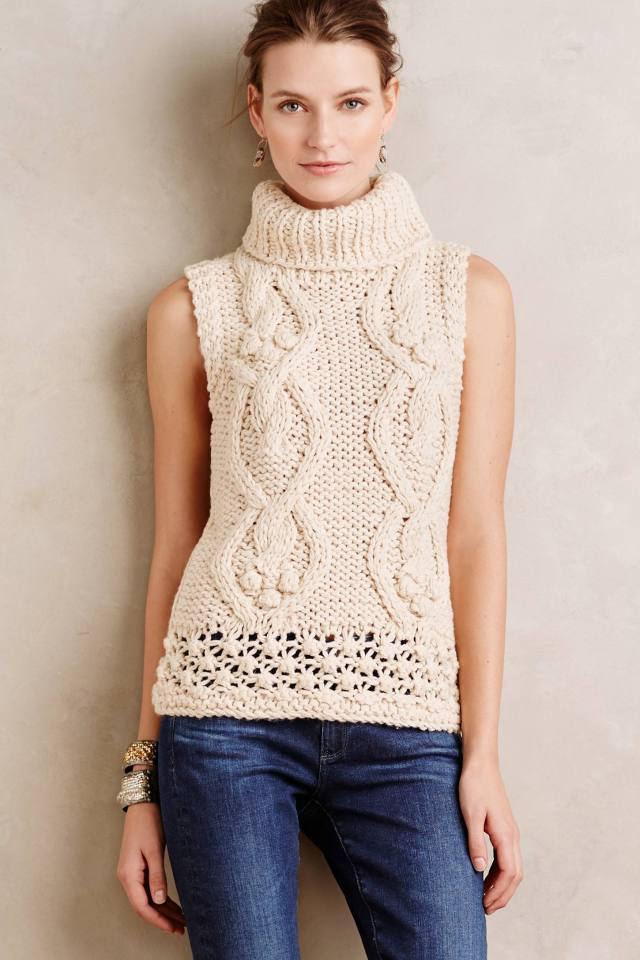 Winterknit Sleeveless Turtleneck by Hazel