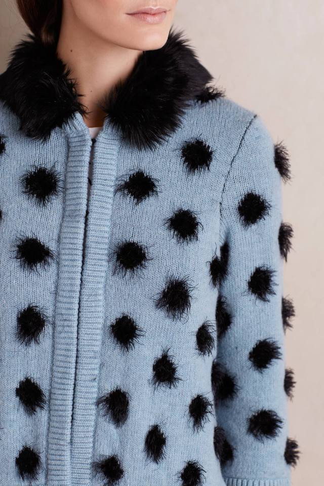 Eyelash Cardigan by Moth