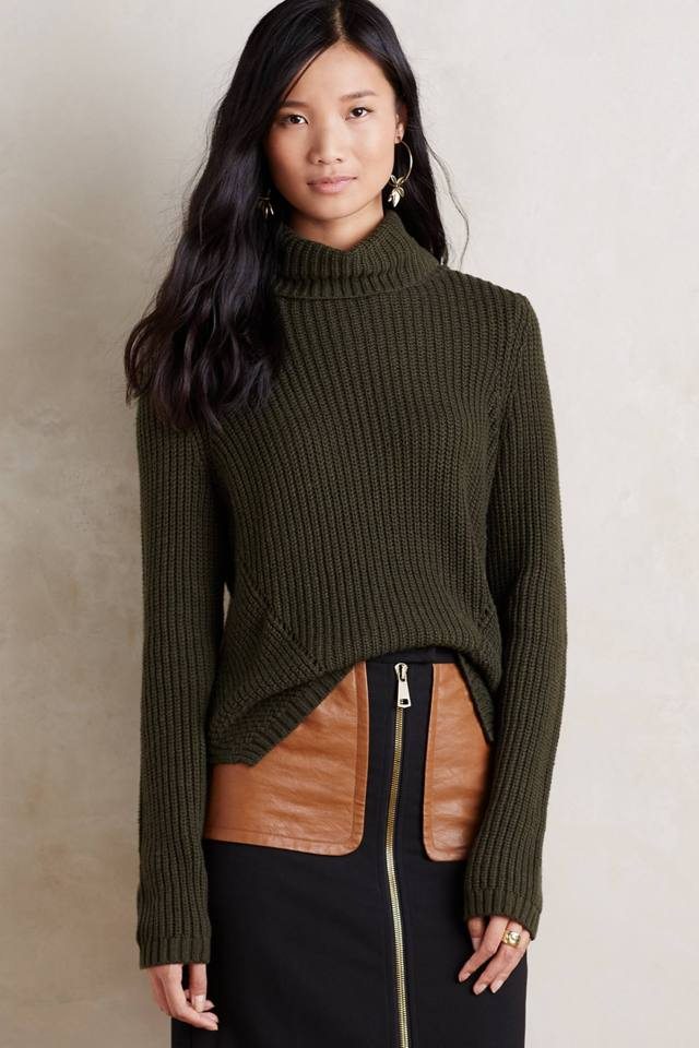 High-Low Turtleneck by Moth