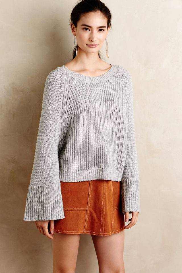 Belled Cuff Pullover