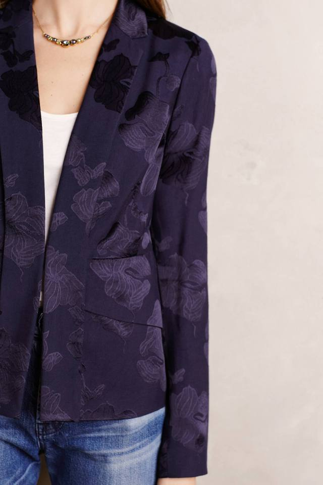Soft Brocade Blazer by Elevenses