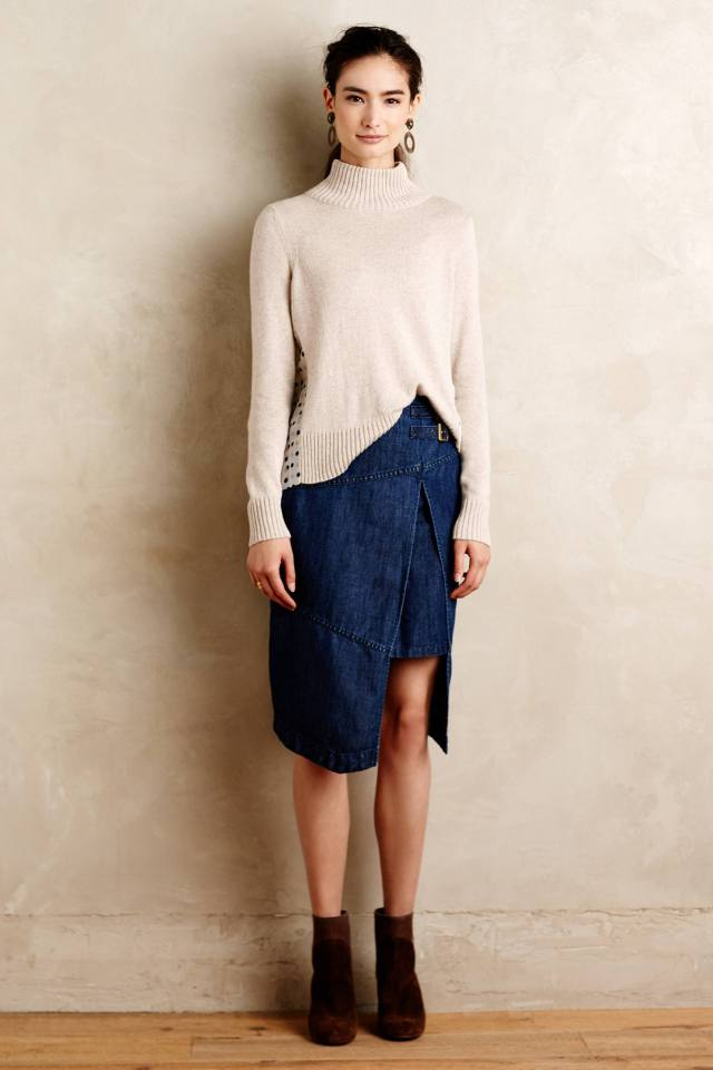 Denim Wrap Skirt by Holding Horses