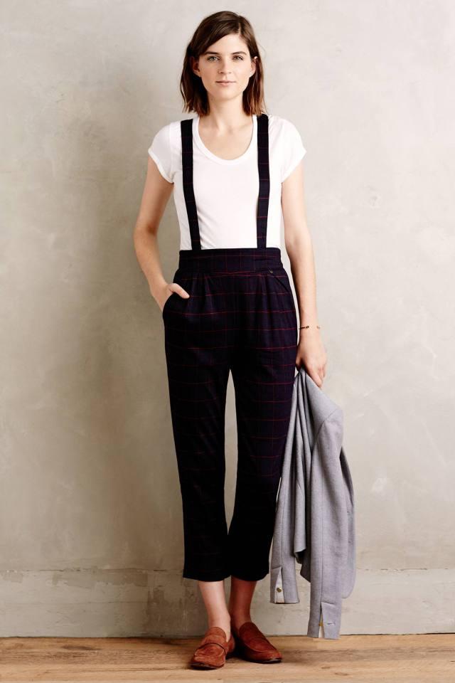 Tartan Suspender Trousers by Harlyn