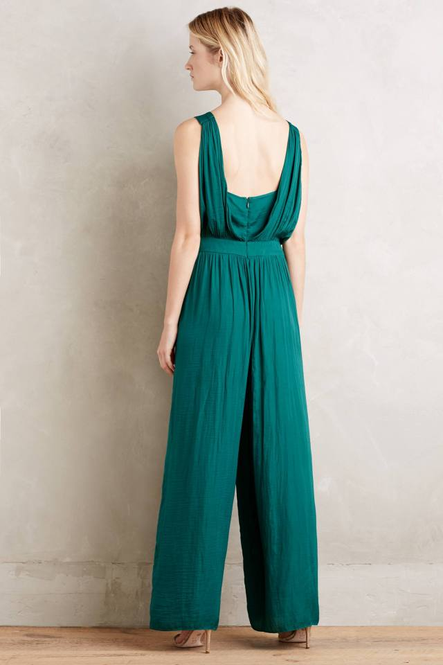 Draped Jade Jumpsuit by Morgan Carper