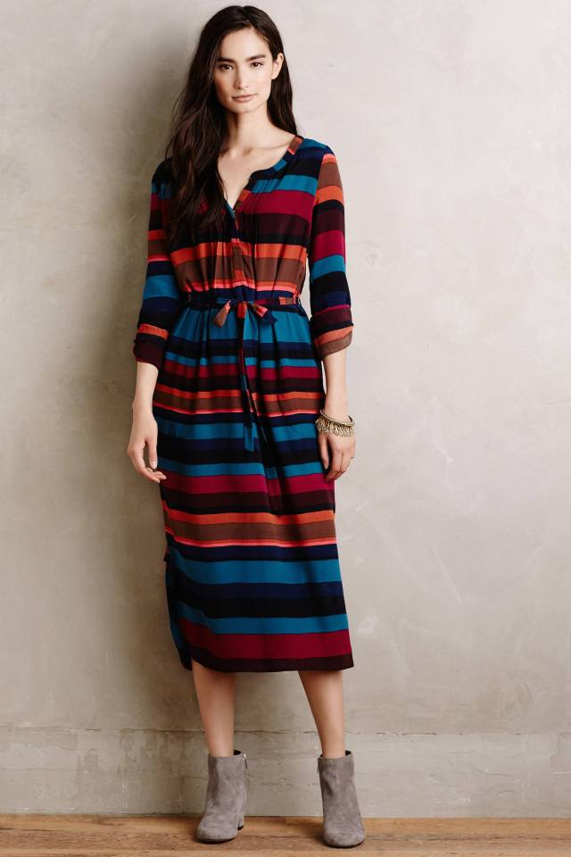 Kurta Midi Dress by Plenty by Tracy Reese
