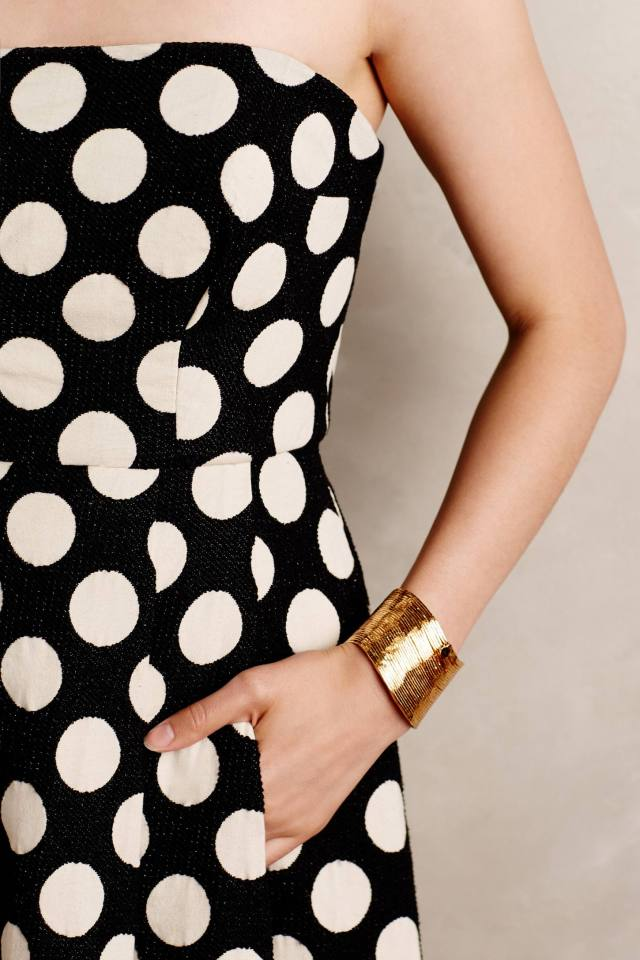 Capra Dotted Jacquard Gown by Tracy Reese