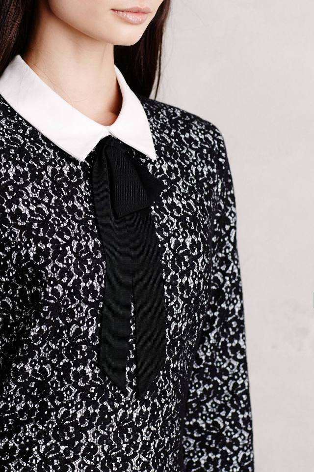 Collared Jacquard Shift by Erin Fetherston