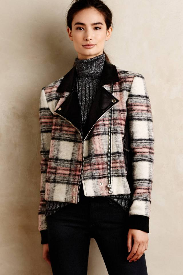 Plaid Moto Jacket by Paige
